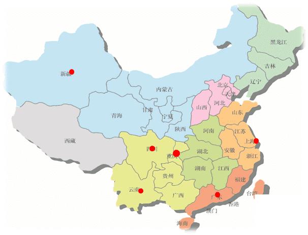 呼叫中心厂家步讯信息地区分布